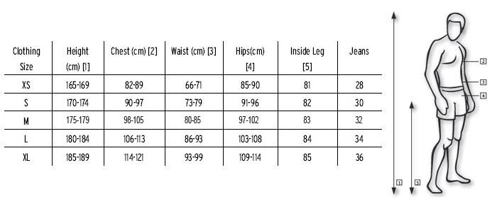 a07074e7c Tabelas de numeração - roupas e sapatos - EUA