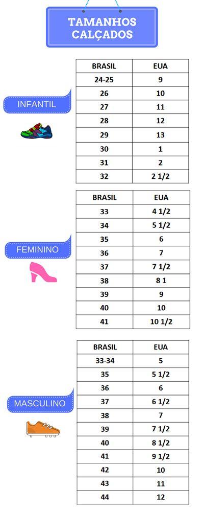 1e9bb8b72a Tabela Internacional de números de calçados e roupas ...