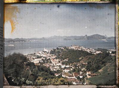 La baie de Guanabara et le quartier de Gloria en contrebas. Rio