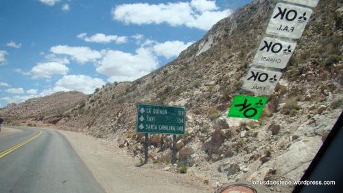 Ruta 9 para La Quiaca- Villazon  Bolivia