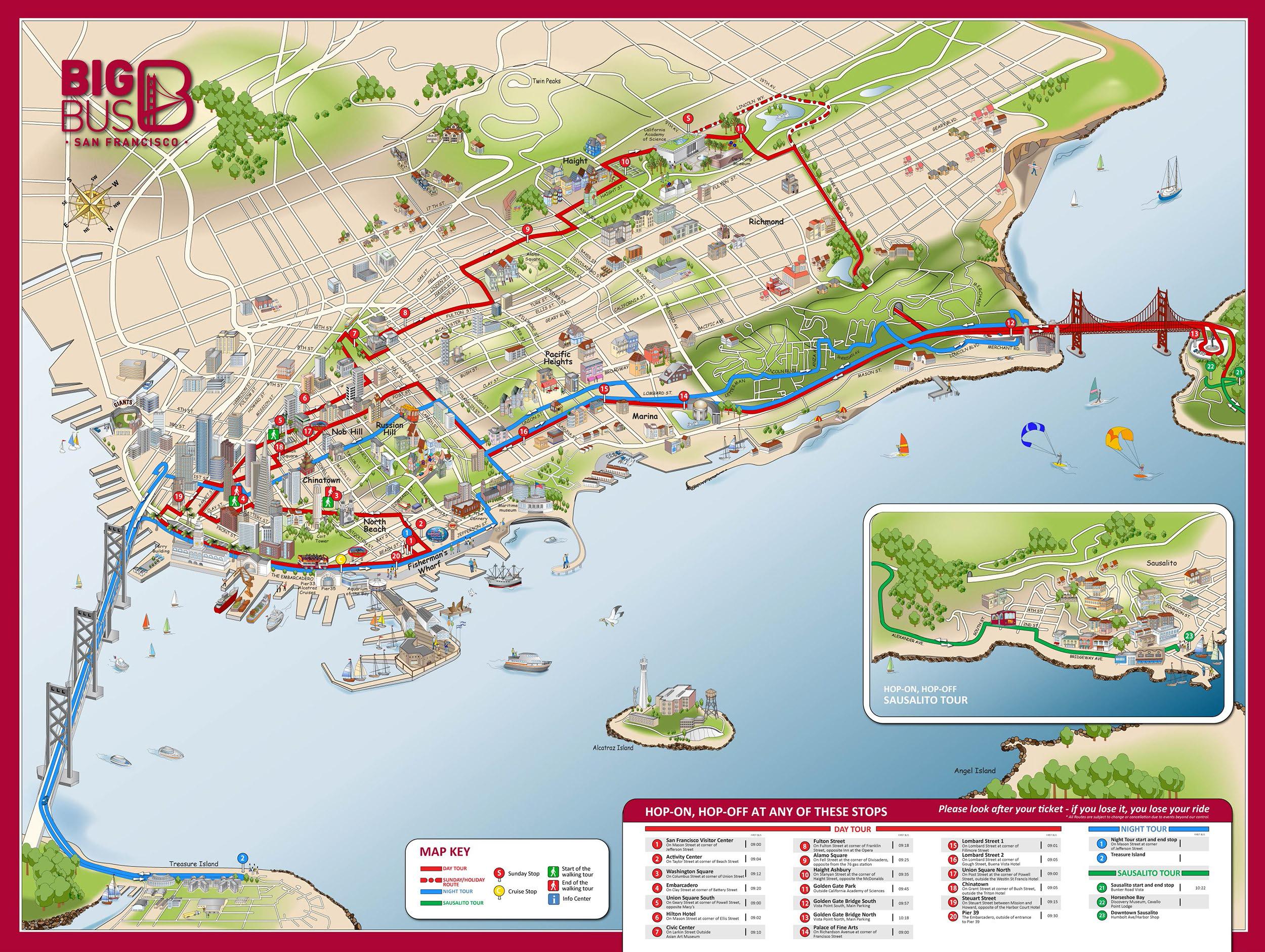 Big bus map / Sport coats canada