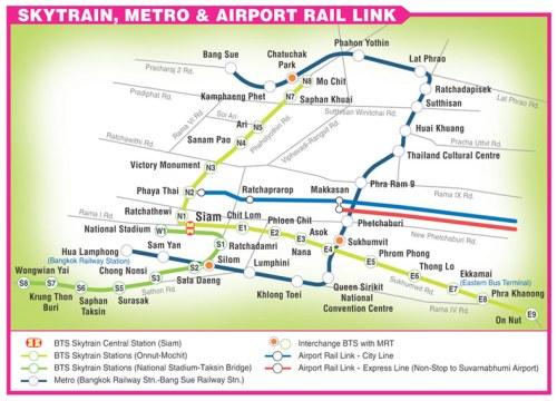 Bangkok - Skytrain map